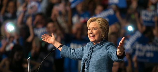 Hillary  Widens Lead