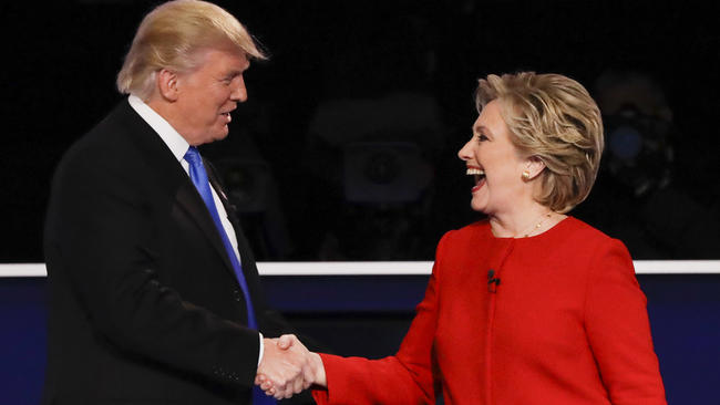 Hillary Trips Trump at Debate