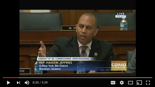 VIDEO: Rep. Hakeem Jeffries exposes Republican hypocrisy in connection with the IRS