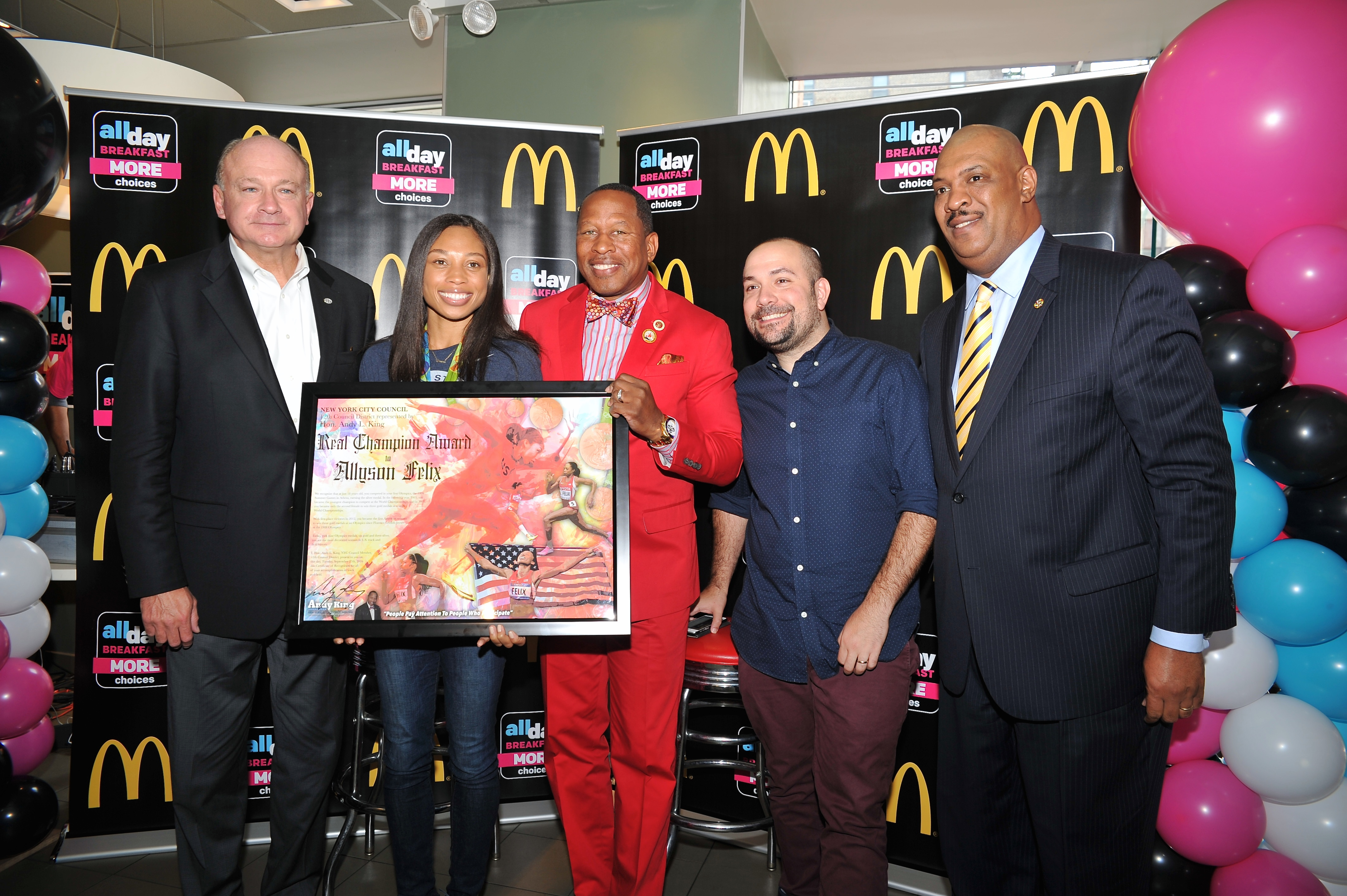 "McDonald's Honors Olympian Allyson Felix at ""All-Day Breakfast"" Menu Expansion Party"