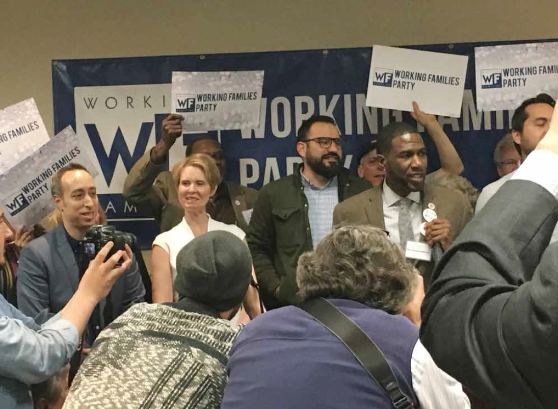 Working Families Party Endorsed Cynthia Nixon for Governor  and Jumaane Williams for Lt. Governor