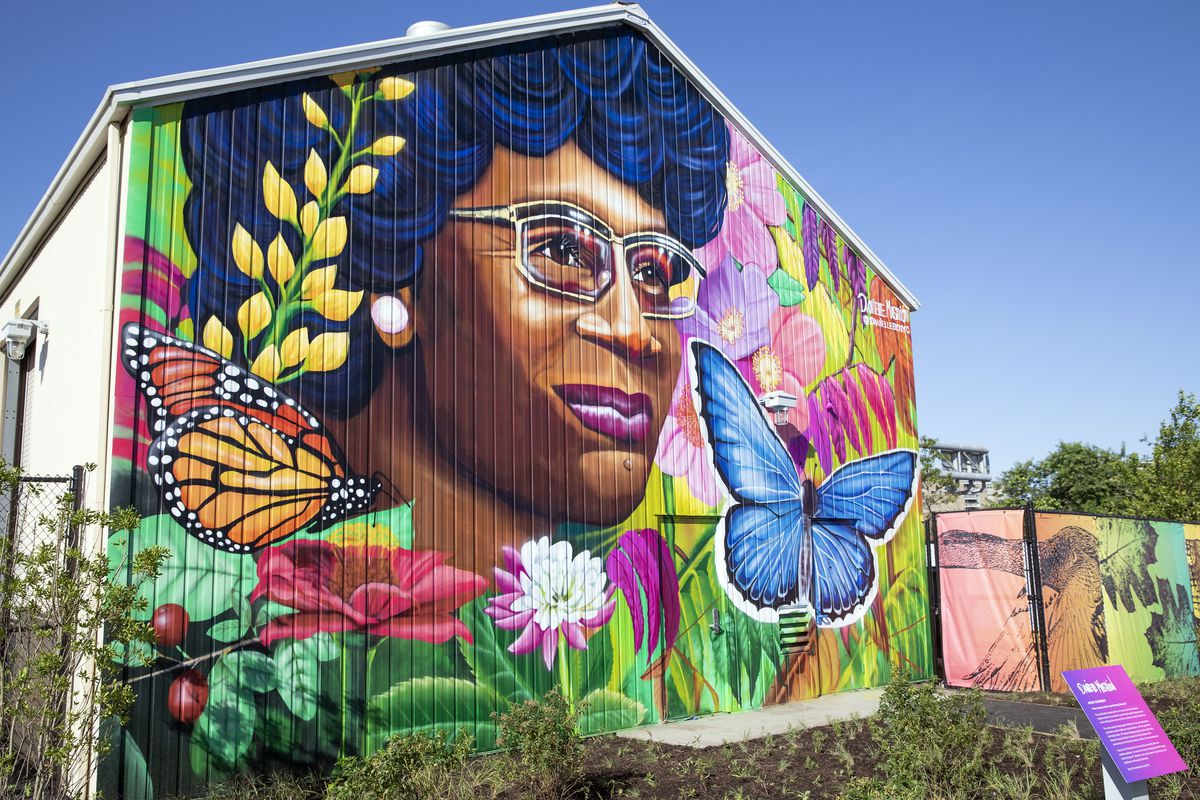 A mural honoring Shirley Chisholm by the artist Danielle Mastrion, Shirley Chisholm State Park, Brooklyn, N.Y (Courtesy of Governor's Press Office)