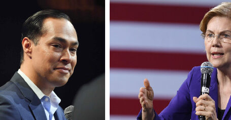 Left to Right: Julian Castro and Elizabeth Warren, 2020 Presidential Candidates. From Democracy Now! Visit democracynow.org
