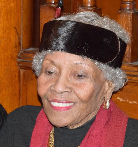 Adelaide Sanford at the 2018 Kwanzaa celebraton at Clarke House.