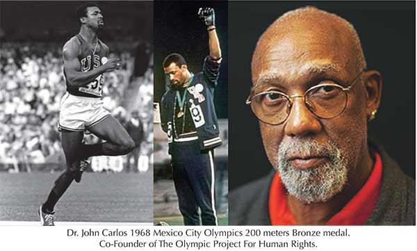 Olympian John Carlos Stays His Course