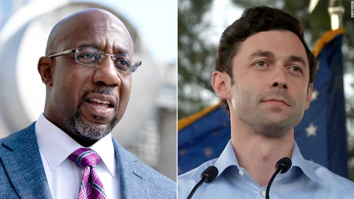 Senate Runoffs in Georgia… Poll Shows Democrats Warnock & Ossoff Holding Lead Over GOP Candidates
