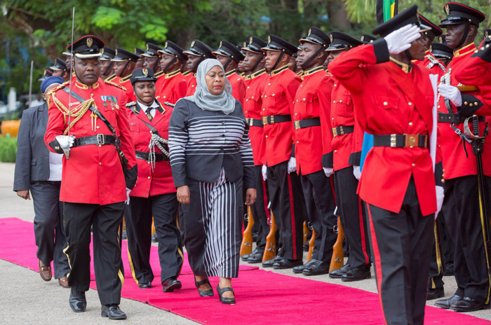 Samia Suluhu Hassan of Tanzania sworn in as the East African nation's first female president